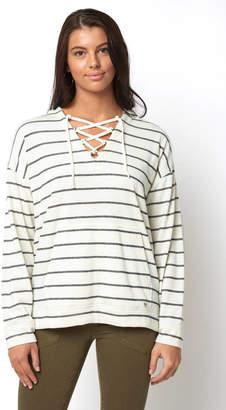 Billabong Weekend Lover Stripe Lace Up Sweatshirt