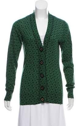 Tory Burch Printed Knit Cardigan