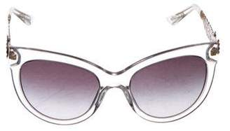Dolce & Gabbana Gradient Floral Sunglasses