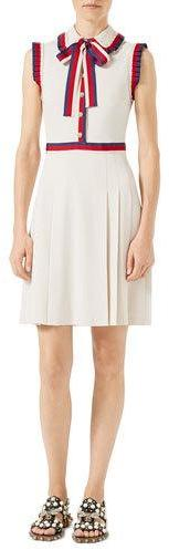 Gucci Gucci Viscose Jersey Sleeveless Dress, Ivory