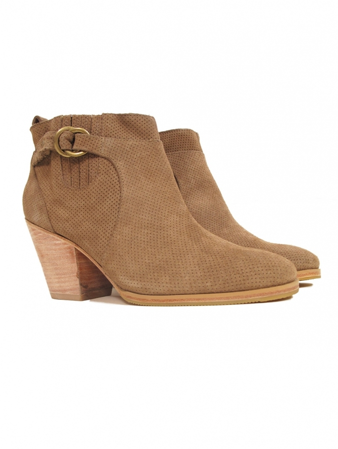 Rachel Comey Hitch Suede Perforated Booties