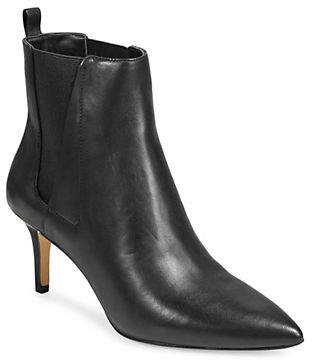 424 Fifth Leather Point Toe Booties