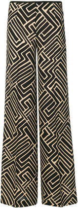 Pt01 printed palazzo trousers