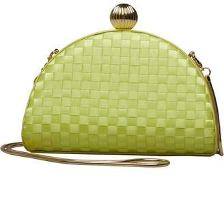 Ted Baker Womens Kyla Weave Bobble Detail Clutch Bag Mid Green