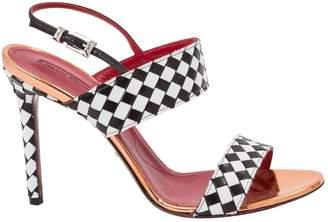 Cesare Paciotti White Leather Sandals