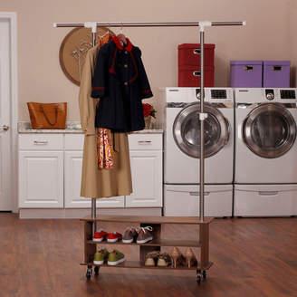 Household Essentials Rolling Shoe Cubby Garment Rack