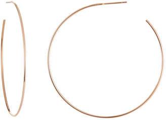 c1737df55e936 Rose Gold Wire Hoop Earrings - ShopStyle