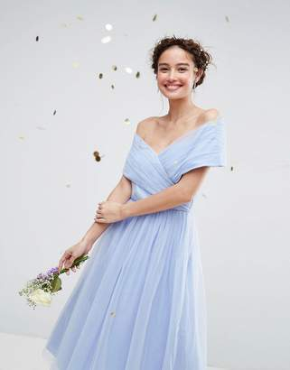 Asos Wedding Tulle Midi Dress