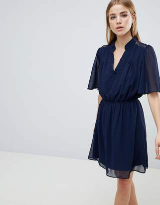 Angel Eye Navy Short Sleeve Dress