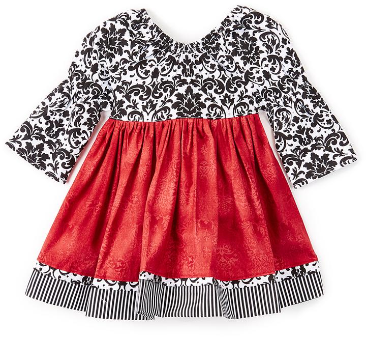 Black & Red Holiday Elegance Dress - Infant Toddler & Girls