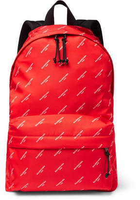 Balenciaga Explorer Printed Nylon Backpack - Red