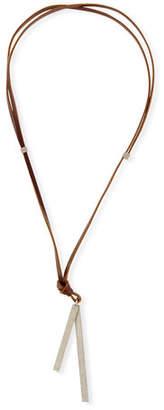 Brunello Cucinelli Adjustable Leather Necklace