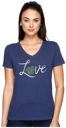 Life is good Love Shamrock Crusher Vee $26 thestylecure.com