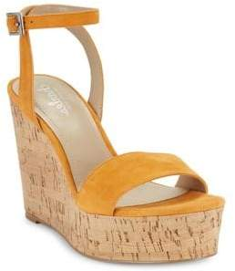 Charles by Charles David Lilla Suede Wedge Sandals