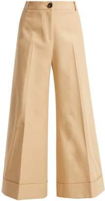 KHAITE Carine cotton-twill wide-leg trousers