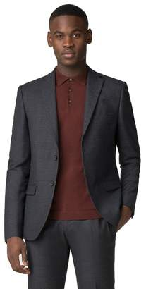Red Herring Charcoal Navy Grid Effect Slim Fit Jacket