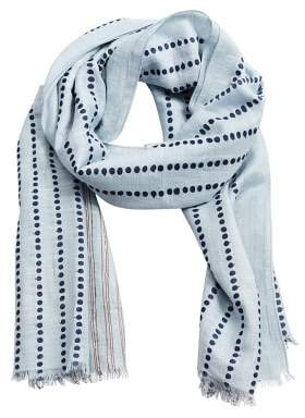 Mango Man MANGO MAN Printed cotton linen scarf