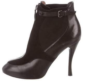 Tabitha Simmons Leather Round-Toe Boots