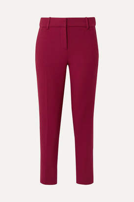 J.Crew Cameron Cropped Cady Tapered Pants - Burgundy