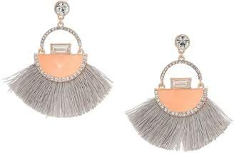 GUESS Thread Fan Drop Earrings with Enamel Accents Earring
