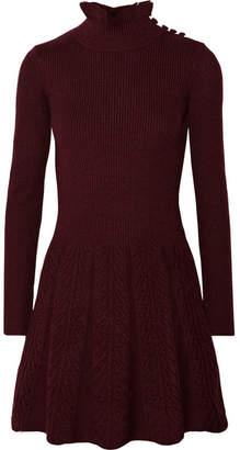 See by Chloé - Wool Turtleneck Mini Dress - Burgundy
