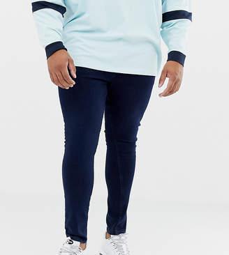 New Look Plus super skinny jeans in dark blue wash