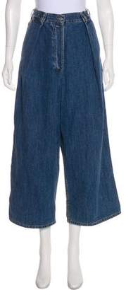 Dries Van Noten High-Rise Denim Culottes
