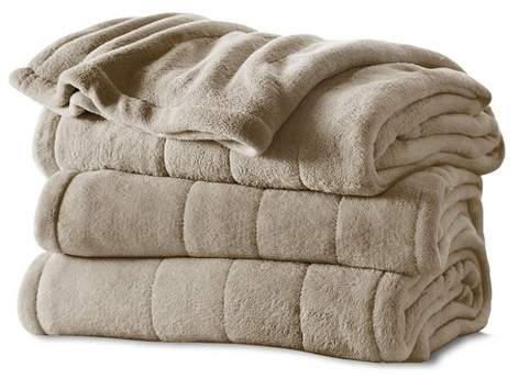 Channeled Microplush Electric Blanket