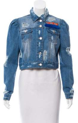 Jocelyn Distressed Denim Jacket w/ Tags