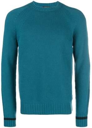 Prada contrast striped cuff sweater
