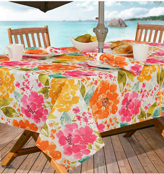 "Elrene Evelyn Indoor/Outdoor 60"" x 84"" Umbrella Zip Tablecloth"