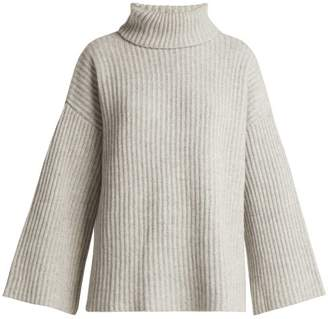 Allude Roll Neck Cashmere Sweater - Womens - Light Grey
