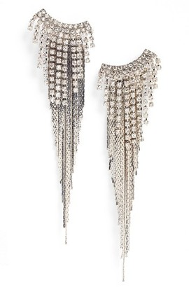 Women's Tasha Fringe Duster Earrings $38 thestylecure.com