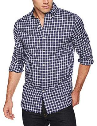 Chaps Men's Classic Fit Long Sleeve Stretch Easy Care Twill Shirt