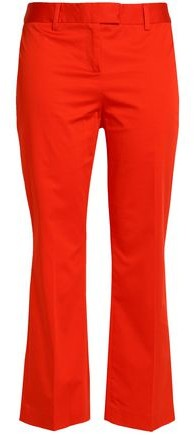 Cropped Stretch-Cotton Kick-Flare Pants