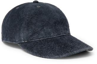Ralph Lauren RRL Roughout Leather Baseball Cap - Men - Blue