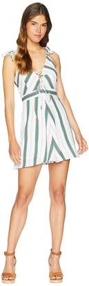 J.o.a. Fit Flare Dress with Lace-Up Side Women's Dress