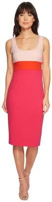 Donna Morgan Sleeveless Scoop Neck Stretch Crepe Bodycon Midi Dress Women's Dress