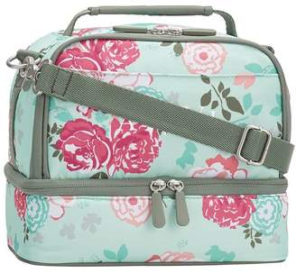 Pottery Barn Teen Gear-Up Garden Party Floral Dual Compartment Lunch Bag