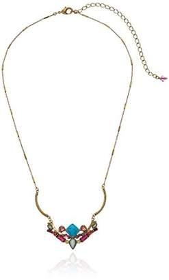 Sorrelli Botanical Brights Adorned Hammered Metal Pendant Necklace