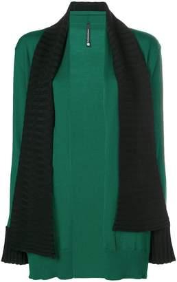 Pierantonio Gaspari Pierantoniogaspari layered scarf cardigan
