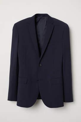 H&M Regular Fit Wool-blend Blazer - Blue