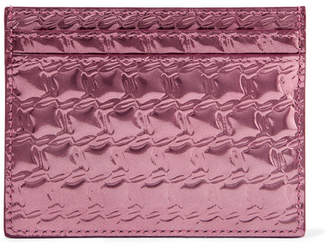 Christian Louboutin Kios Embossed Metallic Leather Cardholder - Pink