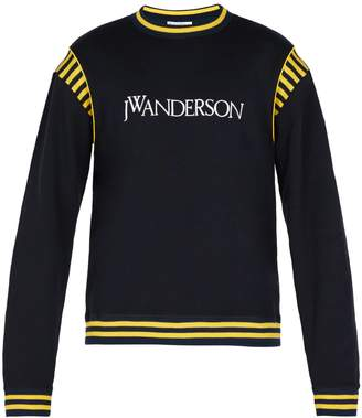 J.W.Anderson Logo-embroidered cotton-jersey sweater