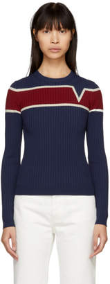 Valentino Navy V Life Line Sweater