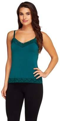Susan Graver Essentials Liquid Knit Lace Trimmed Camisole
