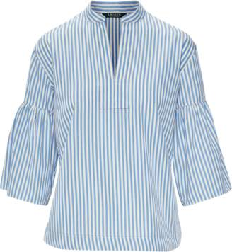 Ralph Lauren Striped Cotton Bell-Sleeve Top