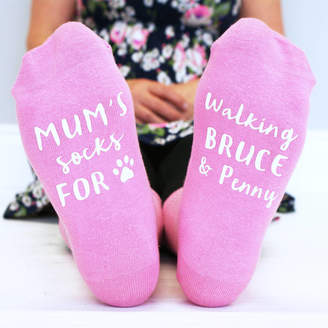 Sparks And Daughters Personalised Walking The Dogs Women's Socks