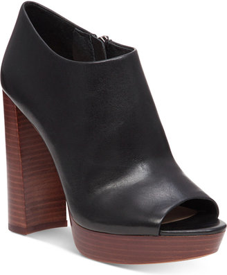 Vince Camuto Kyrie Peep-Toe Shooties $139 thestylecure.com