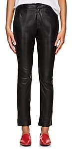 Nili Lotan Women's East Hampton Leather Slim Pants - Black
